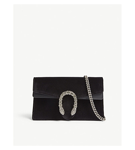 Dionysus super mini leather and suede cross-body bag