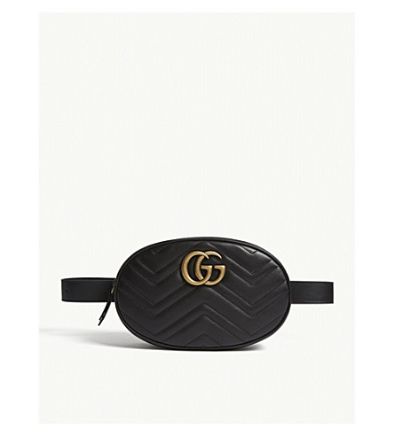GUCCI Marmont quilted leather belt bag (Black