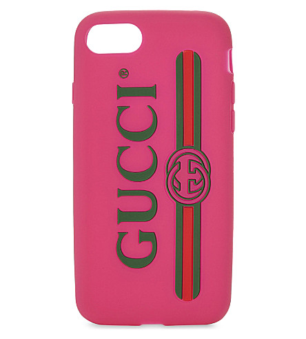 GUCCI Silicone iPhone 7 case (Box+pink