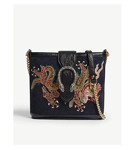 GUCCI Ophidia Dionysus suede shoulder bag (Black