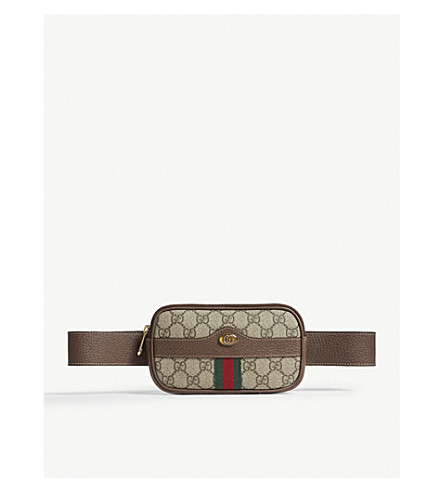 GUCCI Ophidia mini GG Supreme belt bag (Brown