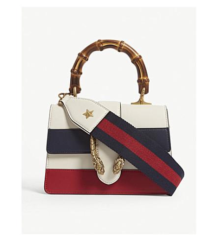 GUCCI Dionysus mini leather shoulder bag (White/blue/red