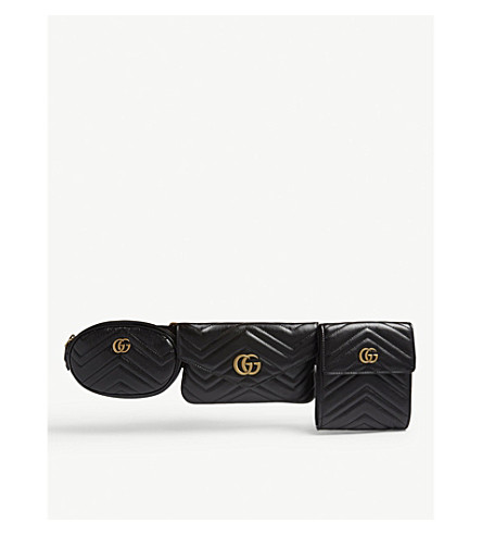 33f0dc5eefa GUCCI GG Marmont matelassé leather multi belt bag (Black
