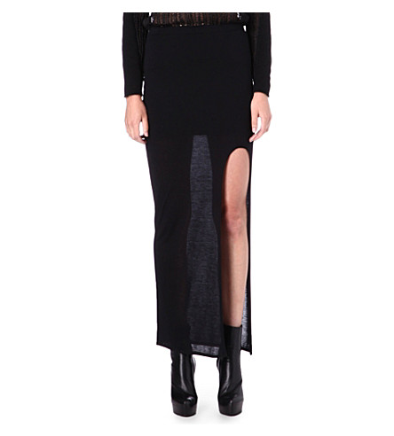 HELMUT LANG Drape maxi skirt (Black