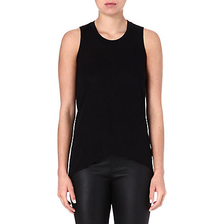 HELMUT LANG Kinetic jersey top (Black