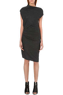 HELMUT LANG Asymmetric wool dress