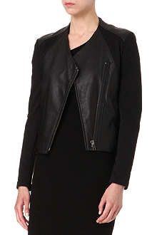 HELMUT LANG Washed leather jacket