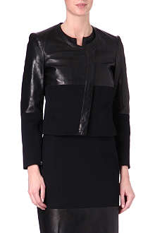HELMUT LANG Panelled-leather jacket