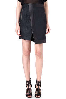 HELMUT LANG Angular leather skirt