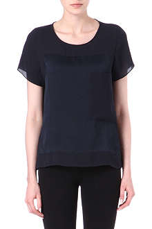 HELMUT LANG Silk-panelled top