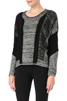 HELMUT LANG Panelled knitted jumper