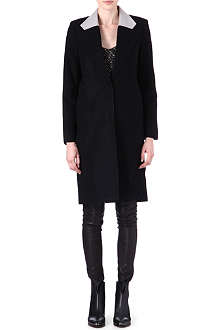 HELMUT LANG Meta leather-collar coat