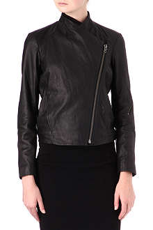HELMUT LANG Washed-leather biker jacket