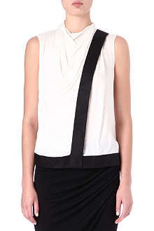 HELMUT LANG Sleeveless cowl-neck top