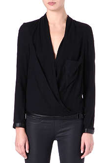 HELMUT LANG Draped cross-over top