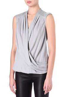 HELMUT LANG Leather-shoulder top