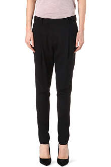 HELMUT LANG Pleat front harem trousers