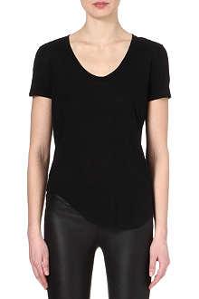 HELMUT LANG Scoop-neck jersey t-shirt