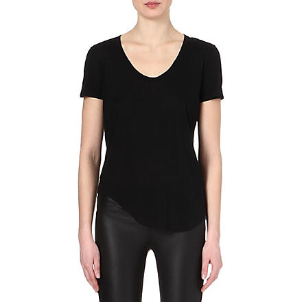 HELMUT LANG Scoop-neck jersey t-shirt (Black