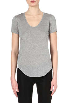 HELMUT LANG Scoop-neck jersey t-shirt