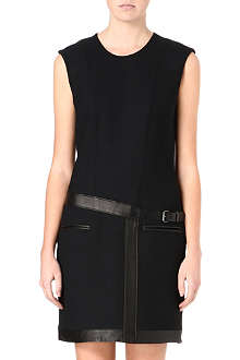 HELMUT LANG Expo leather-trimmed dress