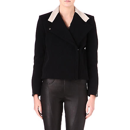 HELMUT LANG Performa contrast-collar jacket (Black