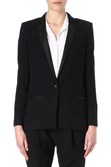 HELMUT LANG Fractal leather-lapel jacket