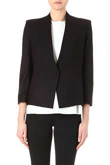HELMUT LANG Single breasted collarless blazer