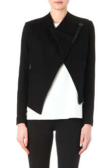 HELMUT LANG Asymmetric cropped wool jacket