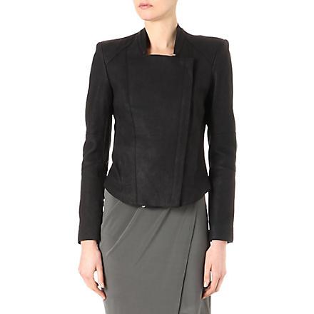 HELMUT LANG Fitted leather jacket (Black