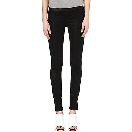 HELMUT LANG Bat Wash coated mid-rise leggings (Black