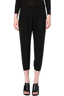 HELMUT LANG Cropped loose-fit trousers