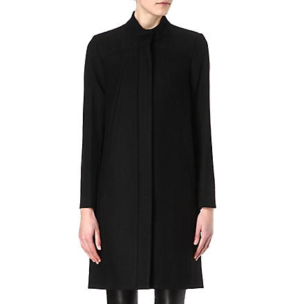 HELMUT LANG Apex wool crombie coat (Black