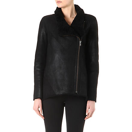 HELMUT LANG Lamb shearling jacket (Black