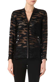 HELMUT LANG Sheer zebra pattern jacket