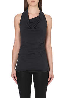 HELMUT LANG Draped sleeveless jersey top