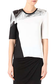 HELMUT LANG Stretch-jersey printed top