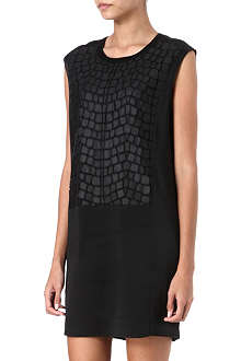 HELMUT LANG Fractal appliqué dress