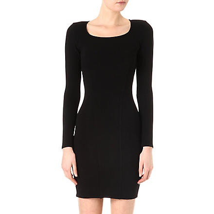 HELMUT LANG Knitted cut-out dress (Black