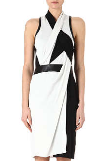 HELMUT LANG Twisted drape dress