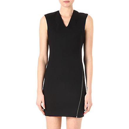 HELMUT LANG Asymmetric-zip dress (Black