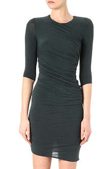 HELMUT LANG Nova ruched side jersey dress