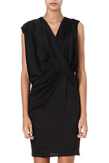 HELMUT LANG Draped front crepe dress