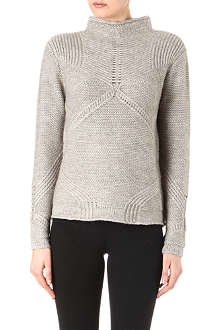 HELMUT LANG Linear crop crew-neck jumper