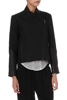 HELMUT LANG Topstitch and leather jacket