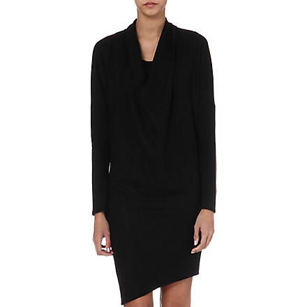 HELMUT LANG Dolman draped dress (Black