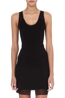 HELMUT LANG Sleeveless mesh-insert dress