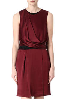 HELMUT LANG Draped satin dress