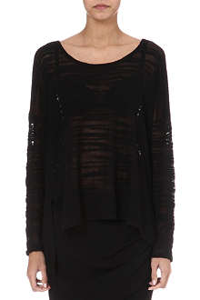 HELMUT LANG Destroyed boucle jumper