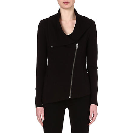 HELMUT LANG Asymmetric zip jacket (Black